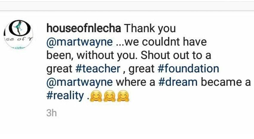 house of nlecha Martwayne testimonial