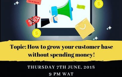 Grow your customer base on ZERO Naira. 9pm, 7 June, LIVE in the Designers Resource Hub Facebook Group!