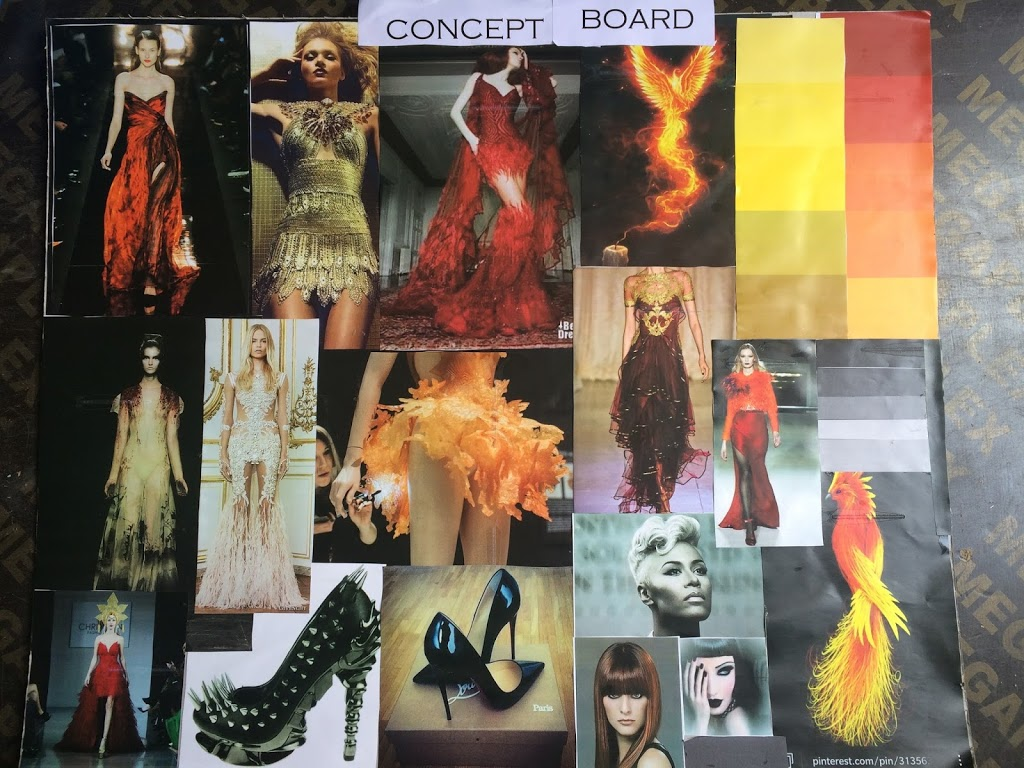 Student Concept Board in Martwayne Creative Class