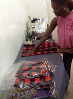 Martwayne Student Packing Orders for Delivery during Beginners Course in Fashion Design