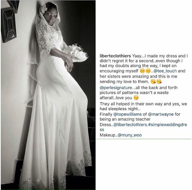 Martwayne student make wedding gowns
