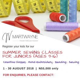 Sewing Classes for Children flyer