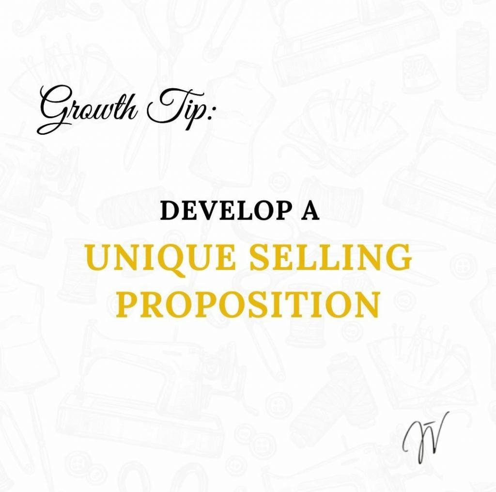 Fashion Business Growth Tip - Develop a unique selling proposition