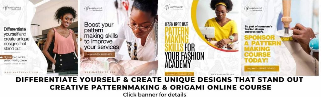 pattern making and origami online course banner