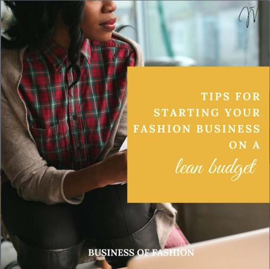 Starting your fashion business on a lean budget