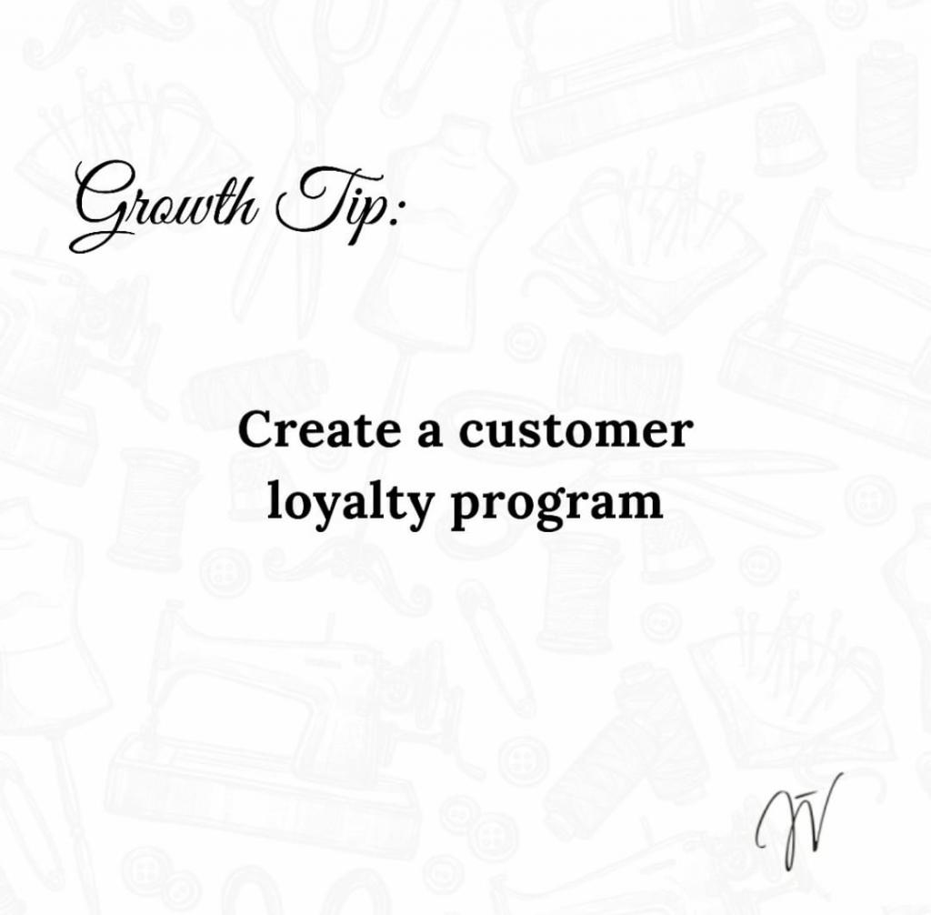 Create a customer loyalty programme