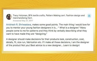 The role of a fashion designer in production