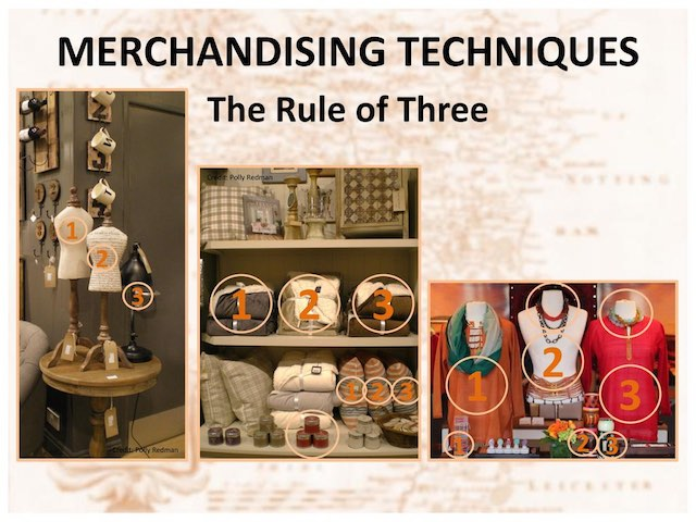 rule of 3 - visual merchandising