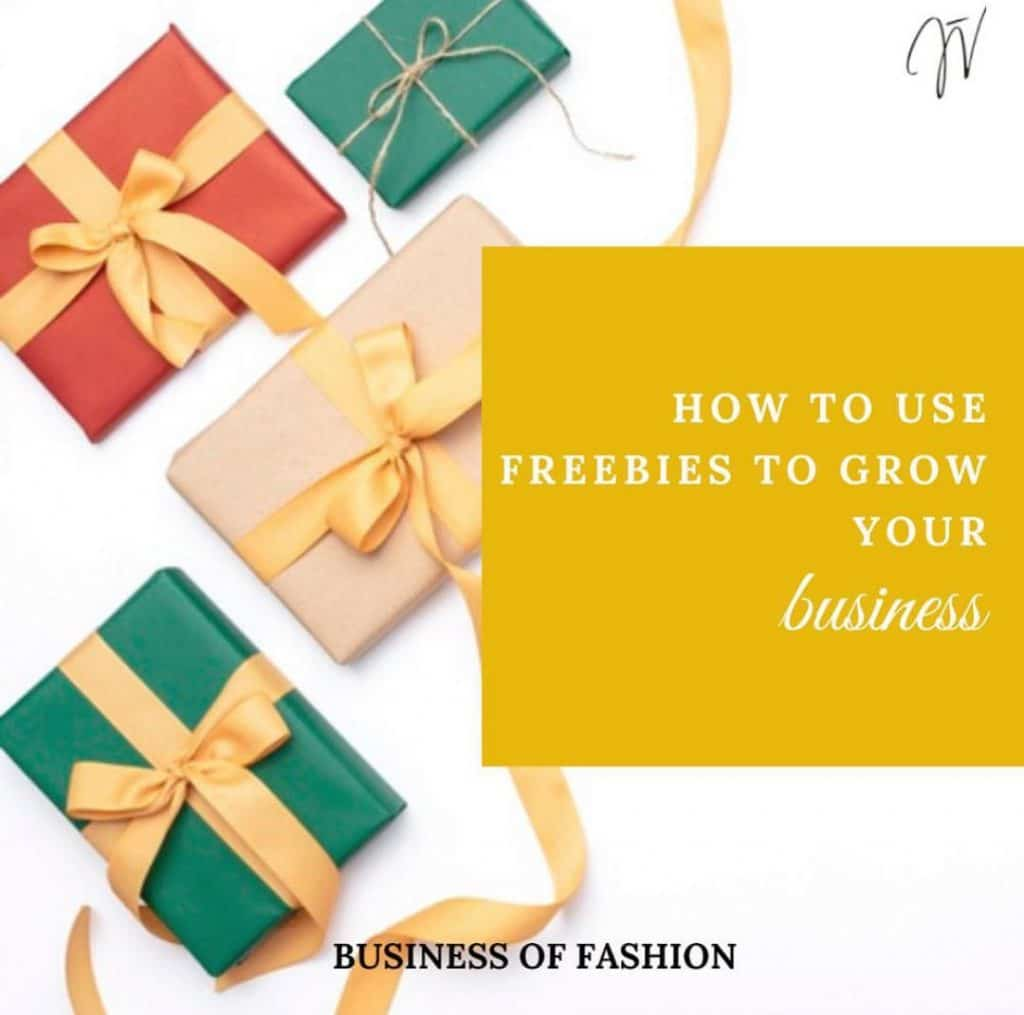 how to use freebies to grow your business