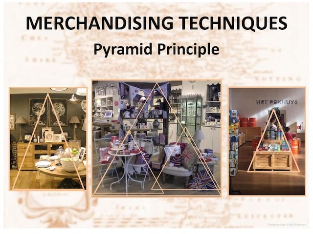 pyramid principle - visual merchandising