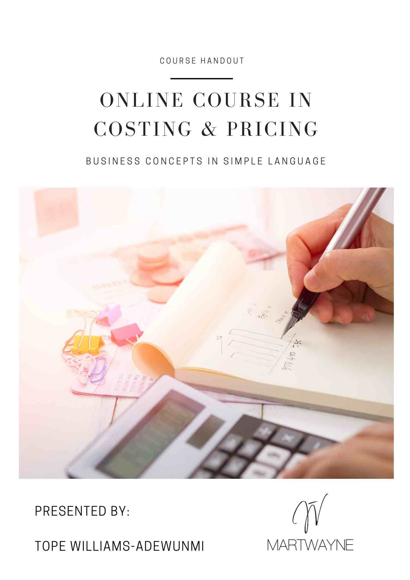 costing and pricing pdf handout